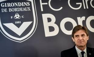 Le président des Girondins de Bordeaux Frédéric Longuépée au Haillan, le 8 novembre 2018.