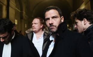 Jérôme Kerviel et son avocat David Koubbi, à Paris le 18 janvier 2016.