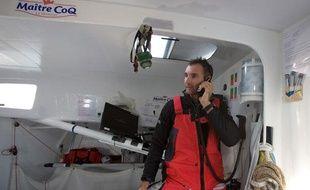 Jérémie Beyou avant le départ du Vendée Globe le 10 novembre 2012.