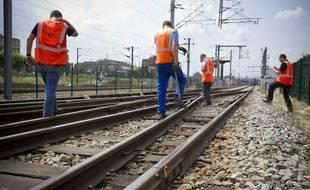 Inspection des rails en Ile-de-France en 2013.