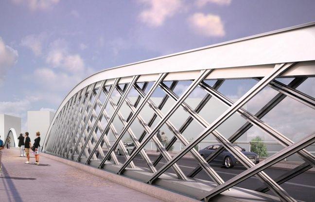 Le futur pont de la palombe reliera en 2018 les quartiers Armagnac et Amédée Saint-Germain sur le secteur Euratlantique à Bordeaux