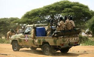 Une force spéciale soutenue par le gouvernement soudanais au Darfour, le 23 septembre 2017.