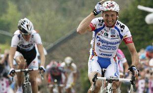 Davide Rebellin, vainqueur de la Flèche wallonne, le 22 avril 2009.