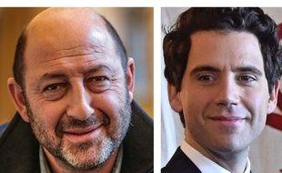 Collage 20 Minutes/SIPA  de l'acteur Kad Merad et du chanteur Mika