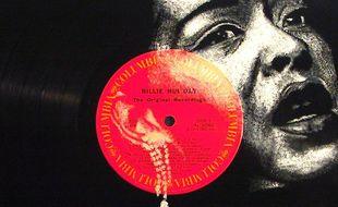 Un vinyle de Billie Holiday.
