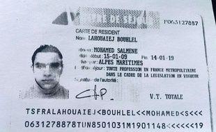 Photo du titre de séjour de Mohamed Lahouaiej Bouhlel, le tueur au camion de Nice.