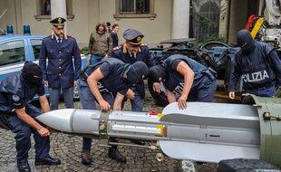 Missile retrouvé par la police italienne