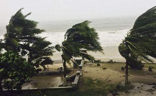 Le cyclone Enawo, qui a balayé le nord de Madagascar le 7 mars 2017, a fait au moins cinq morts.