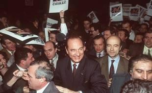 Alain Juppé aux côtés de Jacques Chirac pendant sa campagne de 1995.