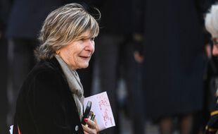 Mimi Marchand à la messe d'enterrement de Bernard Tapie, le 3 octobre 2021 à Paris.