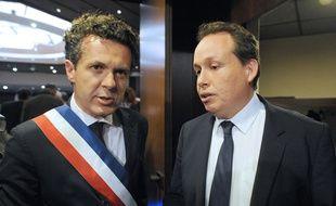 Christophe Béchu et Frédéric Béatse (PS), en 2014