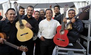 Chico et les Gypsies à Marseille, le 21 juin 2013, dans les coulisses d'une émission pour la Fête de la musique.