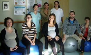 Photo des parents qui ont testé à la maternité de Pertuis cette méthode d'accouchement par la vibration.