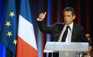 Nicolas Sarkozy lors d'une réunion publique à Nancy, le 3 novembre 2014