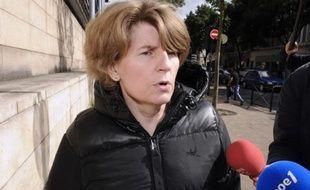 Claire Thibout, ex-comptable de Liliane Bettencourt, à la sortie du tribunal de Bordeaux le 8 juin 2012
