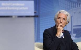 International Monetary Fund Managing Director Christine Lagarde listens during a lecture series at the IMF in Washington, Wednesday, July 2, 2014. (AP Photo/Susan Walsh)/DCSW137/145716134009//1407021949