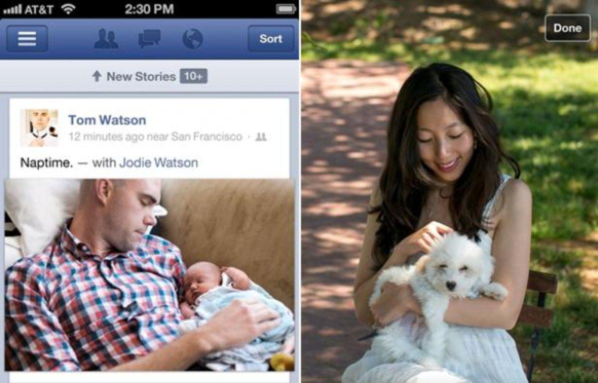 Facebook a lancé une nouvelle app native sur iOS le 23 août 2012. – no credit