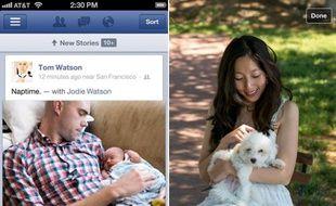 Facebook a lancé une nouvelle app native sur iOS le 23 août 2012.