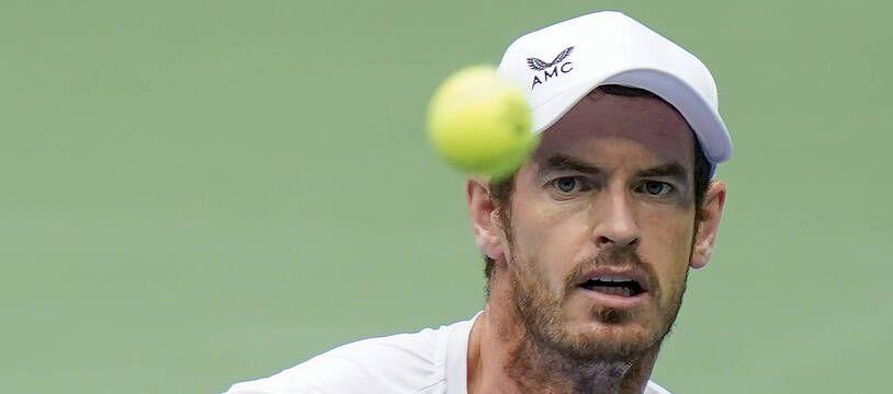 Andy Murray lors de son match contre Yoshihito Nishioka au premier tour de l'US Open, le 1er septembre 2020.
