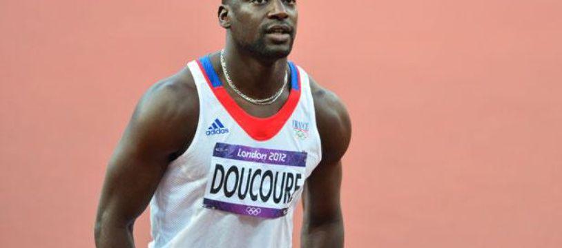 L'athlète français Ladji Doucouré lors des jeux olympiques de Londres, en août 2012.