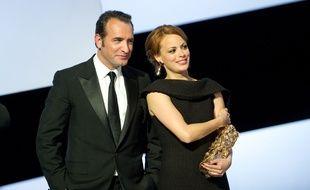 Jean Dujardin et Bérénice Béjo à la 37e cérémonie des Césars en 2012