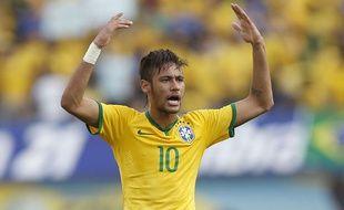 L'attaquant du Brésil Neymar le 3 juin 2014 contre le Panama.