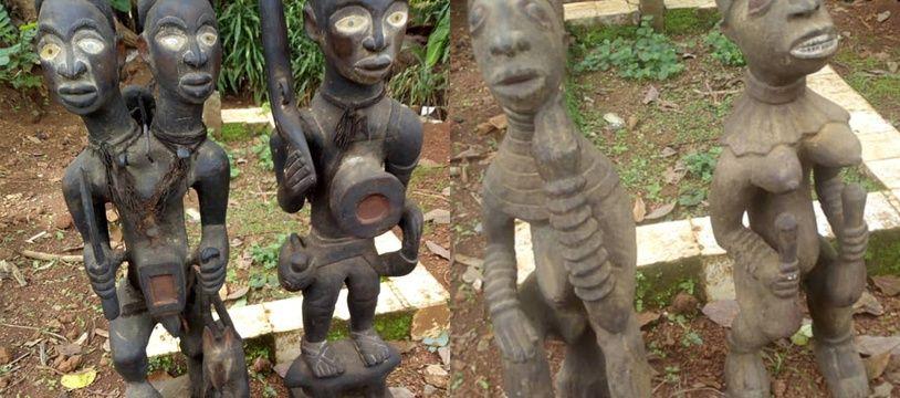 Des statuettes africaines proposées à la vente en France par des escrocs.