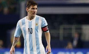 Lionel Messi lors du match entre l'Argentine et le Mexique le 8 septembre 2015.
