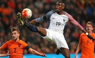 Paul Pogba lors de Pays-Bas-France en amical, le 25 marss 2016 à Amsterdam.