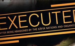 Une capture d'écran du magazine de propagande Dabiq, qui affirme la mort de deux otages.