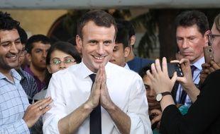 Emmanuel Macron en Inde le 10 mars 2018.
