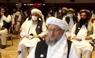 Le chef de la délégation talibane à Doha, Abdul Salam Hanafi.