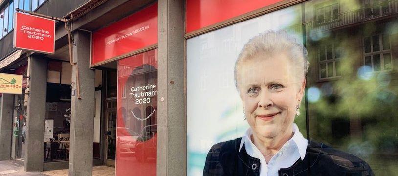Le local de campagne de la nouvelle candidate PS Catherine Trautmann, dimanche 16 février 2019.