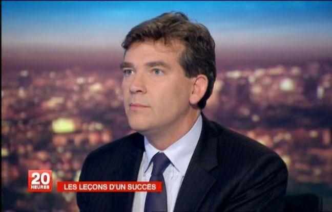 Arnaud Montebourg, le 10 octobre 2011, sur le plateau du JT de France 2.