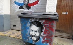 Ludovic Boumbas, au second plan et François-Xavier Prévost, ont été immortalisés par le graffeur Mos.