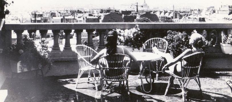 Le toit du Terrass Hôtel (18e arrondissement) vers 1950