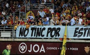 """L'Usap demande à ses """"vrais supporters"""" (comme ici lors de la première journée contre Bayonne) de dénoncer la minorité qui ternit son image."""