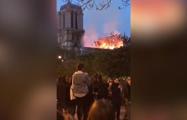 VIDEO. Incendie à Notre-Dame de Paris: Ils chantent pour rendre hommage à la cathédrale