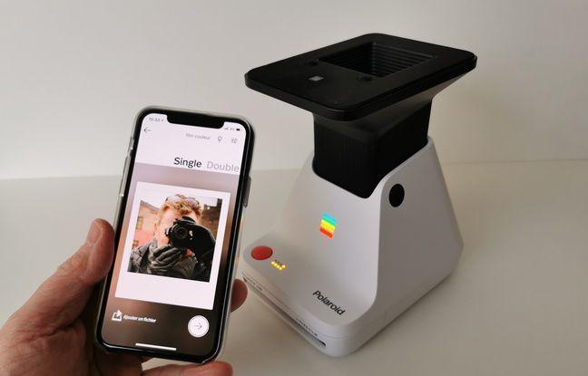 On sélectionne sa photo par le biais de l'application Polaroid.