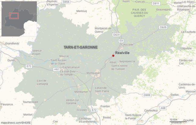 La commune de Réalville est située à une quinzaine de kilomètres au nord-est de Montauban.