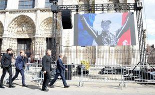 Les obsèques du pilote automobile Anthoine Hubert, le 10 septembre à Chartres.