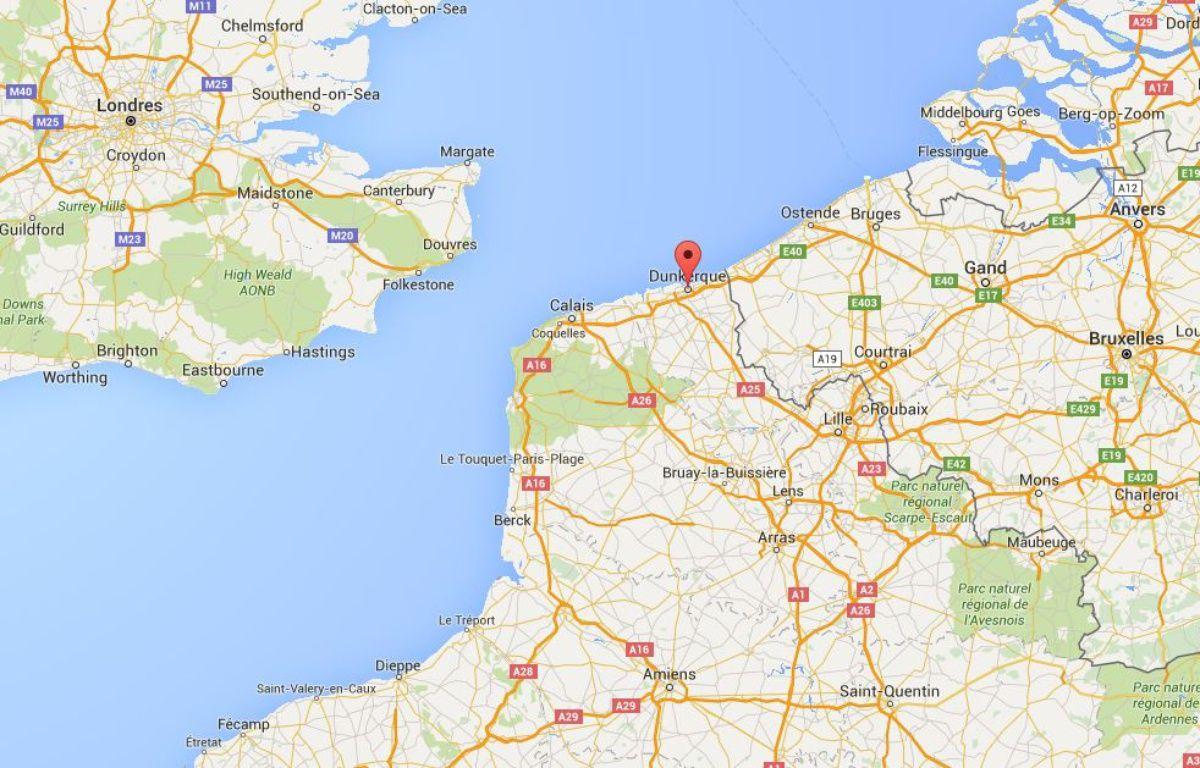 L'homme a été secouru au large de Dunkerque, dans le Nord. – Google Maps