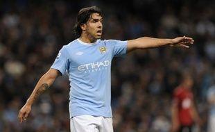 Le joueur de Manchester City, Carlos Tevez, le 23 septembre 2009