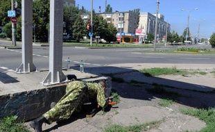 Un séparatiste prorusses à Donetsk en Ukraine, le 21 juillet 2014