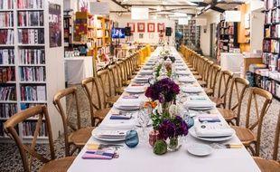 En 2015, un banquet était organisé à la librairie Mollat lors de Bordeaux S.O. Good