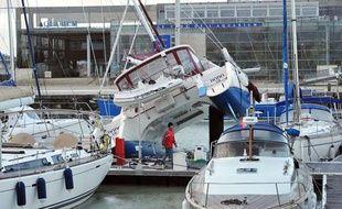 Le port de La Rochelle après le passage de la tempête Xynthia, le 28 février 2010.