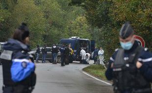 Photo d'illustration de l'enquête, l'an passé à Villefontaine (Isère), autour du meurtre de Victorine. Un autre drame a eu lieu près de là vendredi.