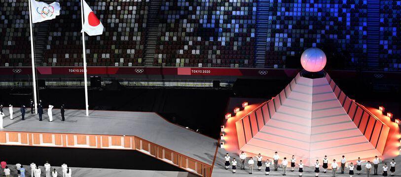 La cérémonie d'ouverture des Jeux olympiques de Tokyo, ce vendredi, approche de la fin.