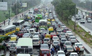 Trafic à New Delhi en août 2010