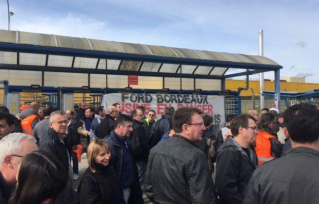 Débrayage à l'usine Ford de Blanquefort, le 5 mars 2018.
